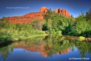 Cathedral Rocks reflection