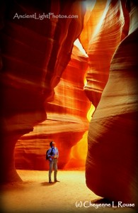 Antelope Canyon Self-Portrait